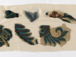 1948M21.11 Set of Bed Hangings - eight fragments of embroidery