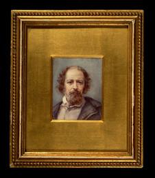 1948P8 Miniature portrait of Alfred, Lord Tennyson