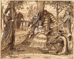 1921P124 Boccaccio's Decameron - Garden Scene from the Introduction