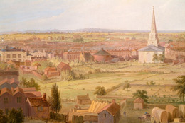 1893P72 Birmingham from the Dome of St Philip's Church in 1821