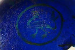 2000A2.8 Mediaeval Blue Glass Roundel